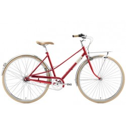 """CREME CAFERACER LADY SOLO RED 3S 28"""""""