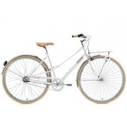 """CREME CAFERACER LADY SOLO WHITE 3S 28"""""""