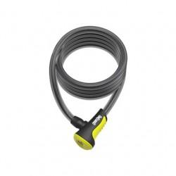 Zapięcie ONGUARD NEON 8162WH Linka - 12mm 180cm - uchwyt + 2 x Klucze z kodem żółte
