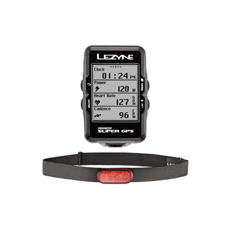 Komputer rowerowy LEZYNE Super GPS HR Loaded