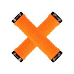 Chwyty kierownicy LIZARDSKINS PEATY CHEERS LOCK-ON klamry 130mm pomarańczowe