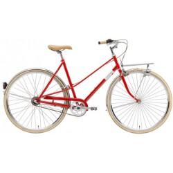 CREME CAFERACER LADY SOLO RED 3S 28""