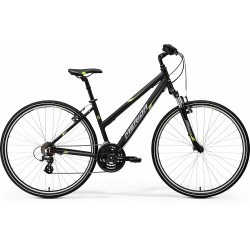 MERIDA CROSSWAY 10-V LADY   MATT BLACK -GREEN/GREY