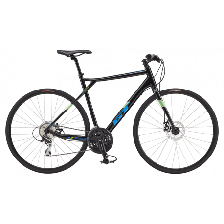 GT GRADE FLAT BAR COMP BLACK/ PROCESS BLUE