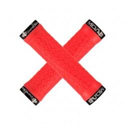 Chwyty kierownicy LIZARDSKINS MOAB LOCK-ON 130mm czerwone