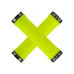Chwyty kierownicy LIZARDSKINS MOAB LOCK-ON 130mm żółte neon