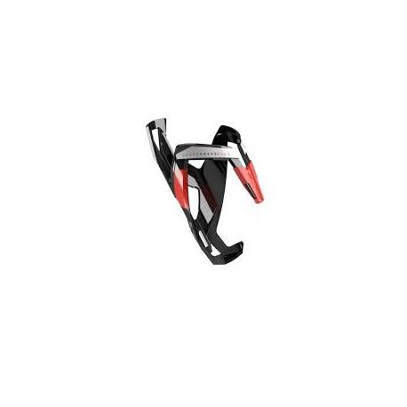 Elite koszyk bidonu Custom Race Plus czarno-czerwony