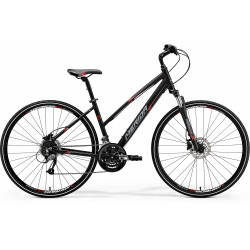 MERIDA CROSSWAY 40-D LADY MATT BLACK (RED/GREY)