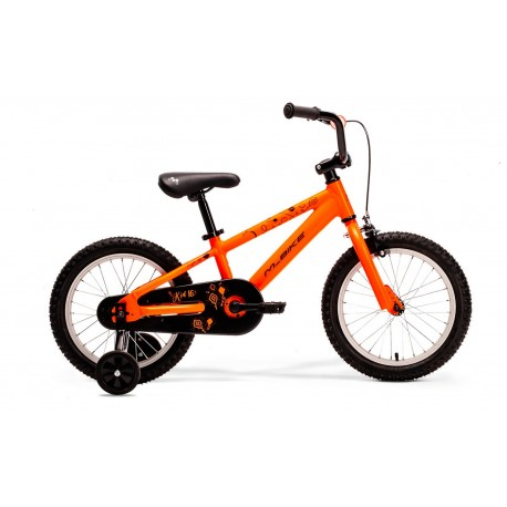 M-BIKE KID 16 KID  NEON ORANGE/BLACK (KITE)